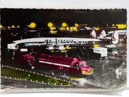 IMAGES DE FRANCE - AEROPORT DE PARIS - AVION AIR FRANCE A IDENTIFIER + CAMION CITERNE ESSO + DIVERS VEHICULES - 1946-....: Ere Moderne