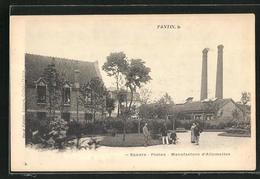 CPA Pantin, Square-Postes Manufacture D`Allumettes - Pantin