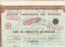 Titre Ancien - Société Chérifienne Des Pétroles - Société Anonyme - Titre De 1932 - Pétrole