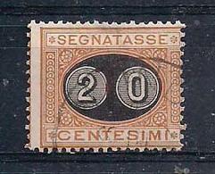 REGNO D'ITALIA 1890-91  SEGNATASSE RE UMBERTO I SEGNATASSE DEL 1870 SOPRASTAMPATI SASS. 18 USATO VF - Segnatasse