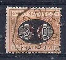 REGNO D'ITALIA 1890-91 SEGNATASSE RE UMBERTO I SEGNATASSE DEL 1870 SOPRASTAMPATI SASS.19 USATO VF - Segnatasse