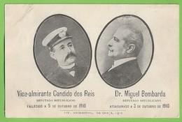 República Portuguesa - Monarquia - Vice-Almirante Cândido Dos Reis - Dr. Miguel Bombarda - Portugal - Personnages
