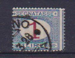 REGNO D'ITALIA 1890-94 SEGNATASSE RE UMBERTO I SEGNATASSE DEL 1870 CAMBIO COLORE SASS. 21 USATO VF - Segnatasse