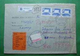 1995 NON RECLAME Registerd Letter From PRIZREN To Beograd Kosovo Serbia - Kosovo
