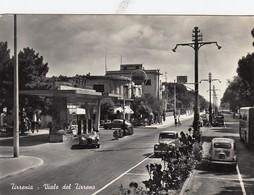 TIRRENIA-PISA-VIALE DEL TIRRENO-DISTRIBUTORE BENZINA=SHELL=CARTOLINA VERA FOTOGRAFIA - VIAGGIATA IL 14-5-1958 - Pisa