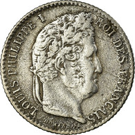Monnaie, France, Louis-Philippe, 1/4 Franc, 1831, Lille, TB+, Argent - France