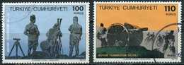 Turkey 1972 - Mi. 2264-65 O, 50th Anniversary Of The Great Offensive - 1921-... République