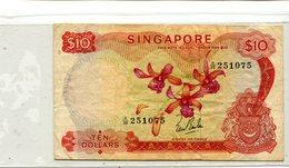 SINGAPORE 10 DOLLARS VF OLD 15.00 - Singapore