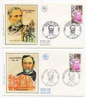 FDC France 1973 - Louis Pasteur YT 1768 - 75 Paris Et 39 Dole - 1970-1979