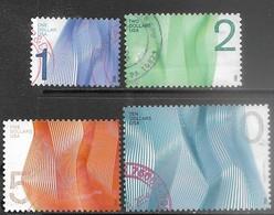 US 2012  Sc#4717-20  $1/$2/$5/$10 Waves  Used  2016 Scott Value $13.25 - United States