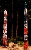 Alaska Sitka National Monument Totem Poles - Sitka