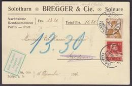 SO   SOLOTHURN - LANDERON  /  SCHOENE NACHNAHME 1914 - Briefe U. Dokumente