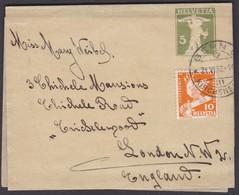 1932  /  STREIFBAND MIT ZUSATZFRANKATUR BERN - LONDON - Briefe U. Dokumente