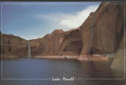 Lake Powell - Summer Monsoon Rains Create Water Falls On The Escalante Arm Of Lake Powell. - Lake Powell