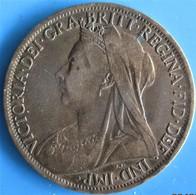 """GRANDE BRETAGNE - VICTORIA 1 Penny """"old Head"""" 1901, B+ - 1816-1901 : Coniature XIX° S."""