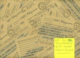 ALLIER MOULINS 1939 / 1945 LOT DE 35 TELEGRAMMES VOIR LES SCANS INDIVIDUELS - Marcophilie (Lettres)
