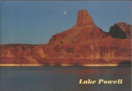 Lake Powell - Sunrise And Moonset Near Anasazi Canyon - Lake Powell