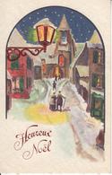 Fantaisie - Ancienne - Heureux Noël - Carte Luxe Gaufrée - Noël