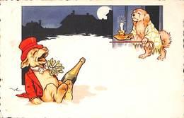 Chiens Humanisés (animée)  Alcool Et Retour... Meilleurs Voeux Pour 1940 - Cani