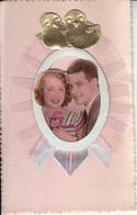Fantaisie - Ancienne - Amour -  Carte Luxe Avec Montage Photo, Ruban Et Dentelle - Mariage