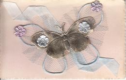 Fantaisie - Ancienne - Amour -  Carte Luxe Avec Montage Papillon, Ruban Et Dentelle - Wedding