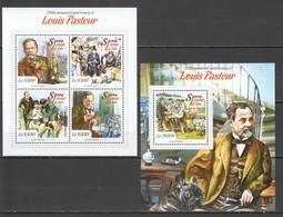 ST539 2015 SIERRA LEONE FAMOUS PEOPLE LOUIS PASTEUR 1KB+1BL MNH - Louis Pasteur