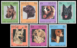 79 - Laos 1987  Y&T 770/776  Mi# 981/987 ** MNH  Chiens, Dogs - Laos