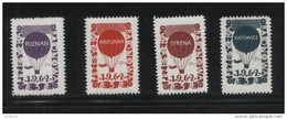 POLAND 1962 BALLOON POST STAMPS SET OF 4 NHM WARSZAWA KATOWICE SYRENA POZNAN BALLOONS FLIGHT TRANSPORT - Polen
