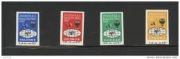 POLAND 1967 BALLOON POST STAMPS SET OF 4 NHM POZNAN POLONEZ SYRENA KATOWICE BALLOONS - Polen