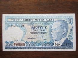 TURQUIE 500 LIRASI 14/10/1970 UNC - Turquia