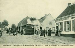 RPCP : Aalst, Alost, Hekelgem, Brusselsche Steenweg, Stoomtram, Tram à Vapeur, Foto Van Oude Postkaart - Lieux