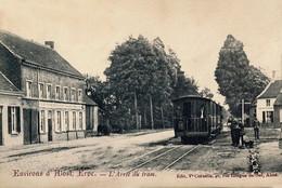 RPCP : Aalst, Alost, Erpe, L'arret Du Tram, Stoomtram, Tram à Vapeur, Foto Van Oude Postkaart - Lieux