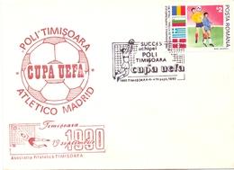 POLI TIMISOARA ATLETICO MADRID 1990  FANTASTIC COVER  (MAR2000118) - UEFA European Championship
