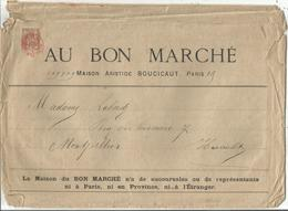 SAGE 30C BRUN N°80 SEUL GRAND COLIS ILLUSTRATION BON MARCHE CACHET ROUGE IMPRIMES PP PARIS 1883 ETAT MOYEN MAIS RARE - 1876-1898 Sage (Tipo II)