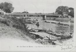 LE TOUR DE MARNE - LA MARNE AU PONT DE BRY - CARTE PRECURSEUR AVEC BELLE ANIMATION - 1903 - Bry Sur Marne