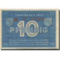 Billet, Allemagne, Baden, 10 Pfennig, 1947, KM:S1002a, SUP - [ 5] Ocupación De Los Aliados