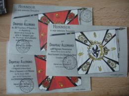 Lot De 3 Tresor Et Postes 60 Sur Carte Drapeaux Pris Aux Allemand Cachet Franchise Postale Militaire - Marcophilie (Lettres)
