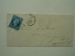 Petit Chiffre 613  Carentan Obliteration Lettre  Pour Saint Lo - 1849-1876: Klassieke Periode