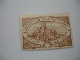 1897 Foire Exposition Toulon Vignette Timbre Erinnophilie - Commemorative Labels
