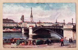 X76325 ROUEN 76-Seine Inférieure Pont BOIELDIEU 1910s OILETTE Raphael TUCK Collection VILLES FRANCE Série 107P N° 6 - Rouen