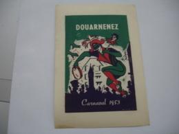 1953 Carnaval De Douarnenez  Vignette Timbre Erinnophilie - Erinnophilie