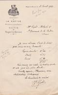 NOGENT LE BERNARD LETTRE DE LA MAIRIE SIGNE DU SECRETAIRE HUET ANNEE 1931 - Non Classés