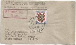 BLASON N°902 SEUL PETITE BANDE COMPLETE PARIS 7.1.1952 POUR ST SERVAN AU TARIF - 1941-66 Armoiries Et Blasons