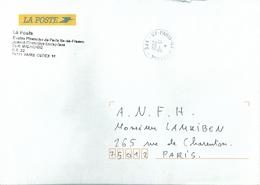 Cachet Manuel De CF Paris Ile De France _ Centre Financier - AFE - Activité Financière Entreprises - Postmark Collection (Covers)