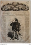 Types Disparus - Le Conducteur De Diligence - Page Original 1859 - Historical Documents
