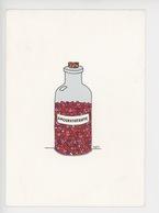 Amourathérapie - Magali Membré Lali Illustrateur (flacon Médicaments Amour Coeur) Cp Vierge - Humor