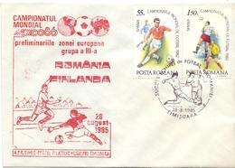 ROMANIA FINLANDIA 1985  FANTASTIC COVER  (MAR2000130) - Covers & Documents
