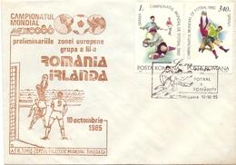 ROMANIA IRLANDA  1985  FANTASTIC COVER  (MAR2000131) - Covers & Documents