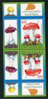 SALE Latvia 2009 Mi 768 Tet-bech MNH Mushrooms - Funghi