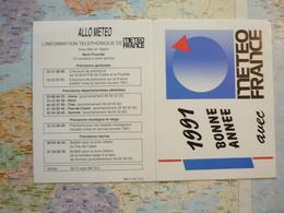Calendrier Petit Format  Météo France 1991 - Petit Format : 1991-00